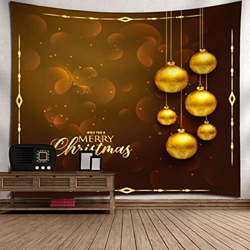 Yingbaobao arazzi personalizzabili arazzi buon natale e palle d'oro arazzi di arte della parete decorazioni per la casa lenzuola raduni all'aperto 130×150cm