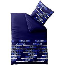 Bettwäsche 135x200 Mikrofaser, Concept Kosmea 0011320 Punkte blau grau