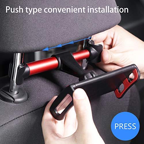 Tablet-Autohalterung, Kopfstützenhalterung: Universelle 360-Grad-Halterung für Autositze für alle 4,4 bis 11 -Tablets, Pad Pro 9,7, 10,5, 10,2, Air Mini Nintendo-Schalter, Registerkarte, Telefone