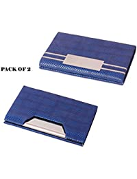 Pack Of 2pcs RFID Steel ATM / Visiting/ Credit, PAN/ID Card Holder, Business Card Case Holder, Money Holder, For... - B07BVTYYXP