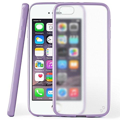 iPhone 4S Hülle Slim Transparent Türkis [OneFlow Impact Back-Cover] Dünn Schutzhülle Silikon Handy-Hülle für iPhone 4/4S Case TPU Tasche Matt INDEGO-VIOLET
