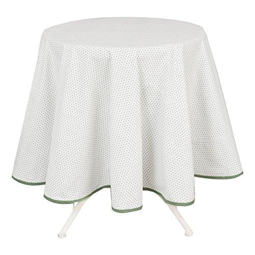 Tischdecke 100% Baumwolle Vintage weiß rund groß