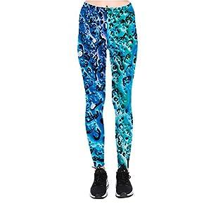 Jiayiqi Frauen 3D Drucken Leggings Bequeme Casual Leggins Fest Yoga Hosen M-XL