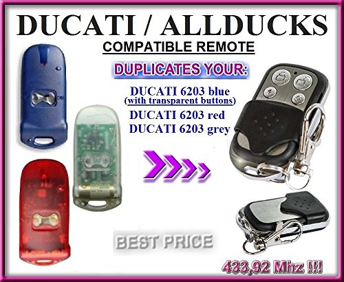 ducati-allducks-6203-blue-red-transparent-compatible-telecommande-4-canaux-43392mhz-fixed-code-clone