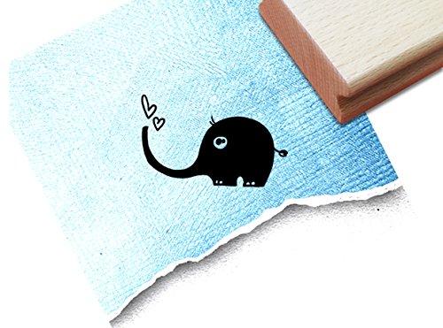 Stempel - Kinderstempel Motiv ELEFANT - Bildstempel Motivstempel Geschenk für Kinder - Kita Schule Einschulung Basteln Deko - von zAcheR-fineT