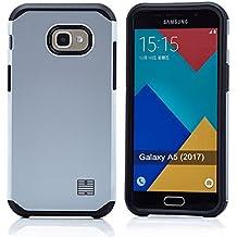 32nd Funda Armadura Rigida Slim Armour con Doble Carcasa para Samsung Galaxy A5 (2017) - Plata