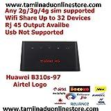 B310s-927 4g/3g/2g Sim Based Home Internet R-O-U-T-E-R with Wi-Fi+RJ45 Output and Sim Tray Opener Kit