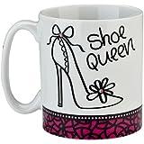 Boxer Gifts Gift Boxed Swarovski Diamante Shoe Queen Mug, White,