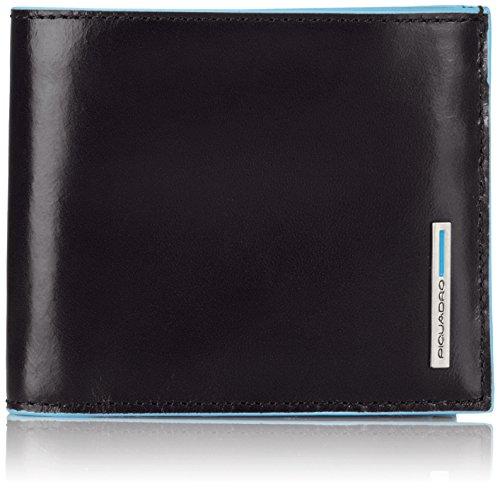 Piquadro PU1742B2 Portafoglio, Collezione Blu Square, Nero