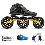 AA- skates LBX Pattini a rotelle, Scarpe da Pattinaggio di velocità, Scarpe da Corsa, Pattini Professionali per Bambini, Pattini in Linea per Uomini e Donne