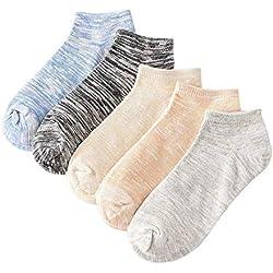 Calcetines de algodón para mujer 10 pares de calcetines de corte bajo Estudiantes for mujeres Niñas Calcetines retro sin costuras de punto cálido ( Color : Blue color , tamaño : Free size )
