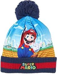 Bonnet à revers enfant garçon Super Mario Bleu/marine de 3 à 9ans