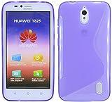 ENERGMiX Huawei Ascend Y625 // Silikon Hülle S-Line Tasche Case Zubehör Schale in Violett
