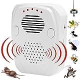 Pest Repeller | 3 in 1 controllo di parassiti [onde ultrasoniche / elettromagnetiche / onde sonore] - mantiene i roditori, i topi, i topi, gli scarafaggi, i ragni - per uso interno e esterno