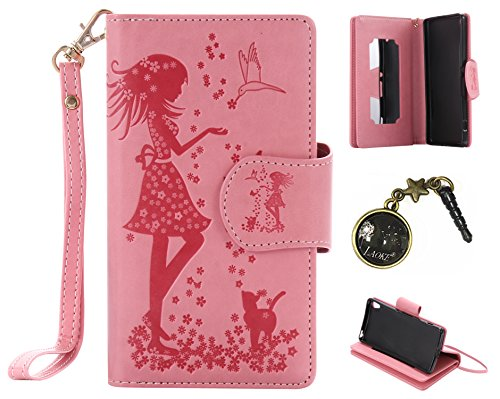 Preisvergleich Produktbild PU Abdeckungs-Fall Smartphone Sony Xperia XA (5 Zoll (12,7 cm) PU-Mappe Kasten Schutzhülle Geldbörse , Kreditkartenschlitz (Schlitz 9), Silikon Schutzhülle Handyhülle Painted zum Schutz + Staubkappe (3VB)