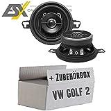 VW Golf 2 - Lautsprecher Boxen ESX HZ32 | 87 mm | 2-Wege Koax | Horizon HZ 32 | 8,7cm | Auto Einbauzubehör - Einbauset