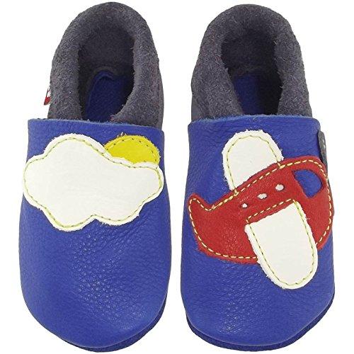 "POLOLO Krabbel- & Pantofole ""Aletta filatoio"" pattini bambino - Blu (california/grafite 740), Bambina, 22/23 EU Blu (Blau (california/graphit 740))"