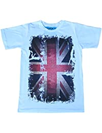 Mens T-shirt Funny Vintage Retro Finger Union Jack Punk Englanf Flag Tshirt All Sizes