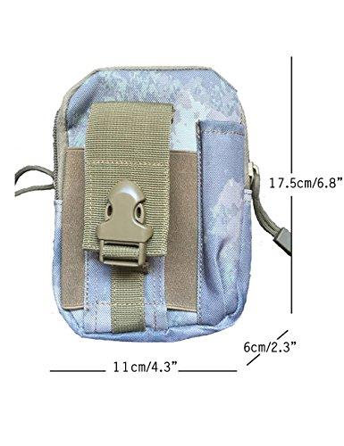 CUKKE Multipurpose Taktische Tasche Gürtel Taille Pack Tasche Military Taille Fanny Pack Telefon Tasche Gadget Geld Tasche Tarnung 4 Tarnung 6