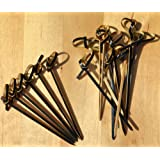Gifts Of The Orient GOTO® - Cóctel Palos Black & Tan Bambú Espada Estilo Japonés 8 Cm X 100