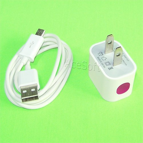 SharpcostTravel Dock Home USB Charger + Micro USB Sync Cable 3 Feet/1m for Straight Talk/Tracfone/Net10 Zte Zephyr Z752c Phone Fast Charging