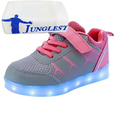 (present: Pequena Toalha) Junglest® Meninas Dos Meninos Levou Sneakers Luz Rosa Fluorescência Sp