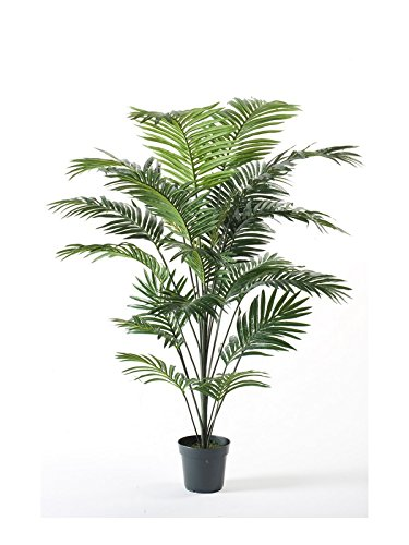 artplants Künstliche Kentia Palme SEYA, 22 Wedel, grün, 175 cm – Kunst Baum/Deko Pflanze