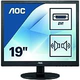 AOC I960SRDA LED display 48,3 cm (19 Zoll) HD Flach Computerbildschirme (VGA, DVI, 1280 x 1024 Pixel, HD, LED, 5 ms) schwarz