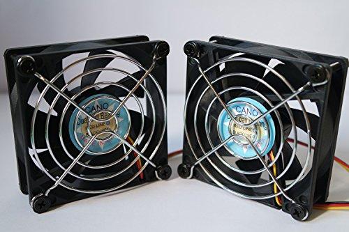 (zwei Verpackungs) Lüfter lange Lebensdauer Dual-Kugellager-Fan für PC, Computer-Gehäuse, CPU-Kühler und Radiatoren, TV-BOX (3-PIN(12V), 80X80X25(mm))