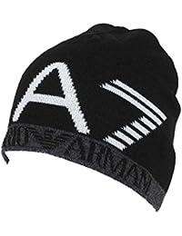 Emporio Armani EA7 bonnet homme train visibility noir