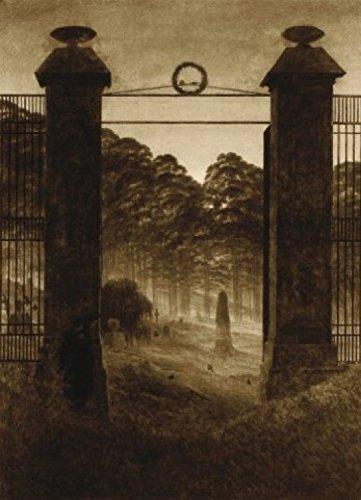 1art1 73533 Caspar David Friedrich - Friedhofseingang, 1825, Sepia, 2-Teilig Fototapete...