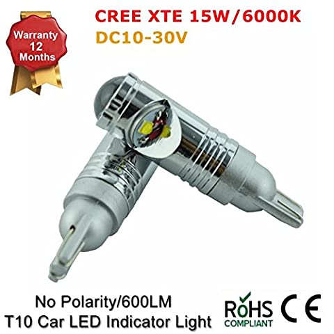 Canbust15W1616819292115W Cree LED de camion de voiture Indicateur Ampoule Lampe Xenon Blanc 10–30V