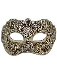 Maschera veneziana per occhi Colombina Mac per donne (argento)