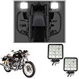 #7: Enfieldzone 2Pc. Square 16 Led 48 Watt Bike Auxillary Cree Fog Lamp Light Flood Light Bulb Offroad Motorcycle Led For All Royal Enfield