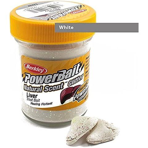 Berkley Natural Scent Trout Bait glitter Liver - White