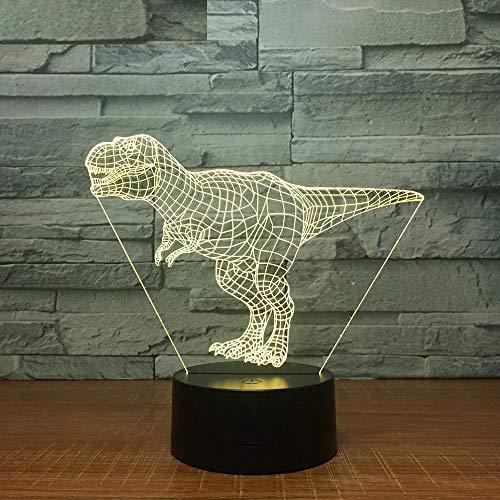 Einhorn 3D Hund led Lampe 7 Tyrannosaurus Rex Farben Nacht Lampe USB Krabben Kinder Lichter als Kinder Party dekor Geschenk Tyrannosaurus Rex Eine Größe (Größe Rex Tyrannosaurus)