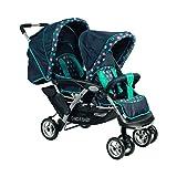 CHIC 4 BABY Geschwisterwagen Duo inkl. Babytragetasche und Regenschutzhaube, verschiedene Designs (Bild: Amazon.de)