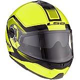 LS2 503252054L FF325 Casco Strobe Civik, Color Hi/Vis Amarillo/Negro, Tamaño L