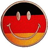Alemania Alemania sonriente sonriente Patch '7.5 x 7.5 cm' - Parche Parches Termoadhesivos Parche Bordado Parches Bordados Parches Para La Ropa Parches La Ropa Termoadhesivo Apliques Iron on Patch Iron-On Apliques