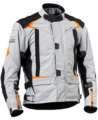 Lindstrands Qurizo Herren-Textilwasserdicht Motorrad Motorradjacke New Grey