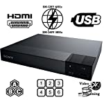 2016 SONY BDP-S1700 Multi Zone Region Code Free Blu Ray - DVD - CD Player - PAL/NTSC - Worldwide Voltage 100~240V - 1 USB, 1 HDMI, 1 COAX, 1 ETHERNET Connections + 6 Feet HDMI Cable Included.