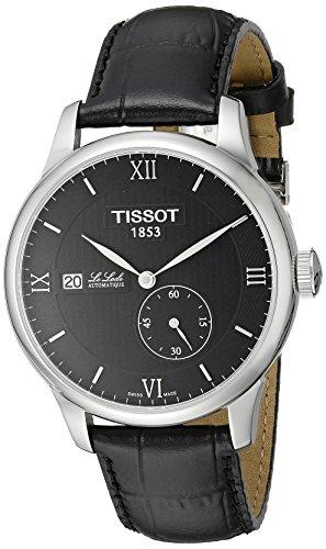 Tissot le Locle T0064281605800analogico uomo Swiss orologio automatico Alligatore nero in pelle