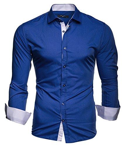Kayhan Herren Hemd, TwoFace Blau XL