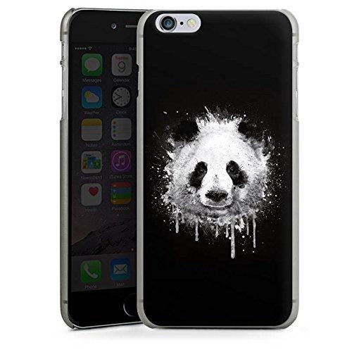 Apple iPhone 8 Plus Hülle Case Handyhülle Panda Bär Grafitti Hard Case anthrazit-klar
