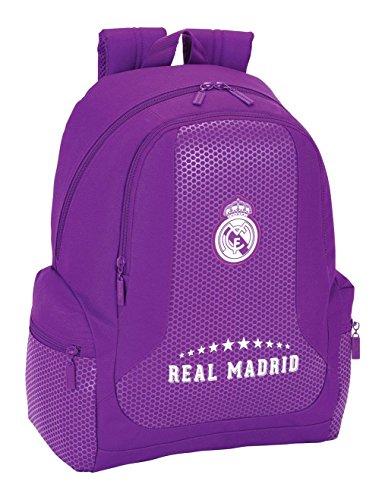 Safta Real Madrid 2ª Equipación Mochila, 32 x 43 x 17 cm, 30 Litros, Color Morado