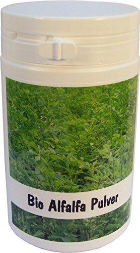 SANOS Bio Alfalfa Pulver, 100g aus eigenem Anbau frisch vom Bodensee -