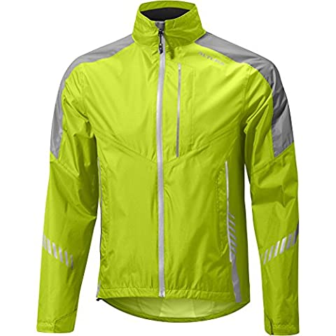 Altura Night Vision Waterproof Jacket - Yellow, Large / NV III 3 Darkproof Dark Technology Rainproof Windproof Reflective Reflect Weatherproof Wet Cold Weather Season Water Rain Wind Shower Storm Resistant Repellent Bicycle Cycling Cycle Biking Bike Riding Rider Ride Commuting Commuter Commute Coat Jersey Top Upper Body Torso Shell Cover Mountain MTB Roadie Road Clothing Clothes Wear Gear Kit Apparel Attire Adult Man Men Gent Bright High Hi Viz Visibility Be Seen Traffic Safety Safe