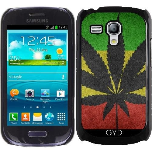 Hülle für Samsung Galaxy S3 Mini (GT-I8190) - Marihuana Hanf Flagge by WonderfulDreamPicture (Samsung Galaxy Unkraut Fall S3)