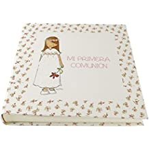 Cuadriman A1-Nna1C Álbum de Comunión Niña 1 Capullito, Papel, Beige, 30 x 30 cm