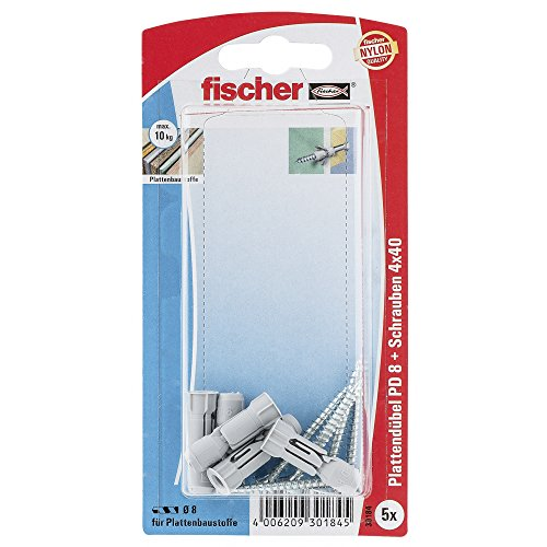 fischer-30184-pd-8-s-board-fixing-with-chipboard-screw-multi-colour-5-piece